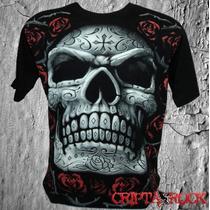 Camiseta Camisa Caveira Mexicana Crânio Bandas Séries Games
