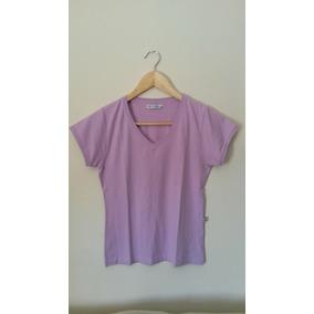 Blusa Camiseta Feminina Manga Curta Básica Lilás