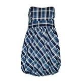 Vestido Tomara Que Caia Xadrez Azul