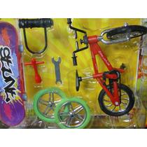 03 Kits De Skate Dedo E Bicicleta Dedo Com Acessorios