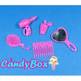 Kit Acessórios De Beleza Para Boneca Barbie * Pente Espelho