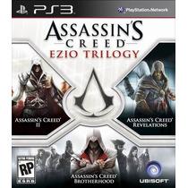 Assassins Creed Ezio Trilogy 3 Games Mídia Física Ps3