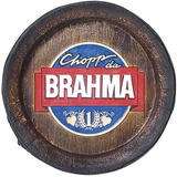 Quadro Tampa De Barril Decorativa Grande Chopp Da Brahma