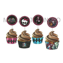 50toppers Monster High Para Doces, Cupcakes, Mini Bolos Etc