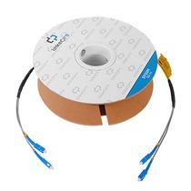 Bobina Carrete Fibra Optica 50m Monomodo C/conectores Duplex