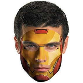 Disguise Iron Man 2 Movie Costume # Face Tattoo