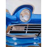 Pintura Ford Fairlane 57 - Quadro Ost Tela Carro Antigo