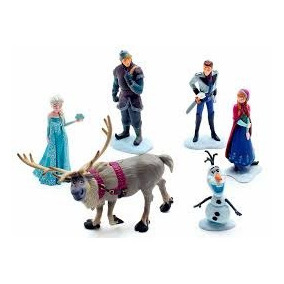 Kit Frozen Disney 6 Bonecos Em Pvc 12cm A Pronta Entregabon