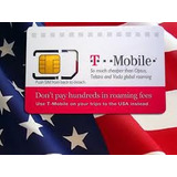 Sim Card Viajera T-mobile At&t Usa Estados Unidos