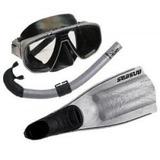 Máscara + Respirador + Nadadeira Mergulho Seasub - Promoçâo