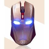 Mouse Raton Inalambrico Iron Man Estilo Gamer 2400 Dpi