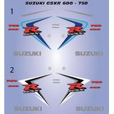 Calcomanias, Stickers Suzuki Gsxr 600-750 2007