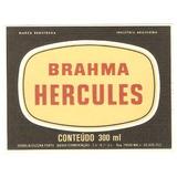 Rótulo Antigo Da Cerveja Brahma Hercules 300 Ml