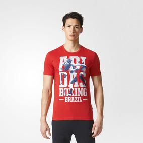 Camiseta Masculina adidas Rio Boxing - adidas - Vermelha - T