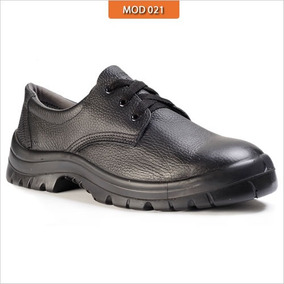 Sapato Cadarço Calçado Proteçao Segurança Epi Couro Vaqueta