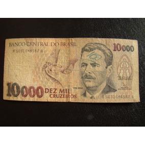 Antiga Nota De 10000 Cruzeiros -