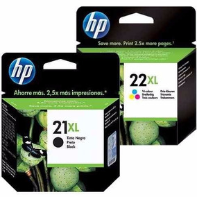 Cartucho De Tinta Hp 21xl Black E 22xl Color Original