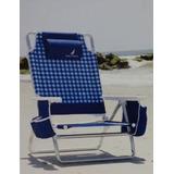 Cadeira De Praia Dobravel Aluminio Nautica