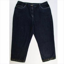 Precioso Pantalon Capri De Mezclilla Para Dama Ruby Rd T 16