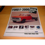 Folder Ford Caminhao F-2000 80 1980 81 1981 82 1982 Diesel