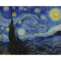 Van Gogh Gravura Hd P/ Quadro 90x113cm Obra Noite Estrelada