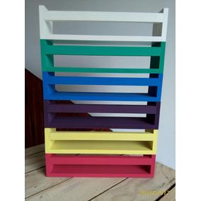 5 Prateleira Decorativa Livros Infantil 60x12x12 C/ Pintura