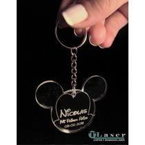 10 Llaveros Souvenirs Mickey Minnie Acrilico C/nombre Grab