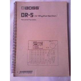 Manual 100% Em Português P/ ( Bateria Boss Dr5 ) R$20,00 !!!