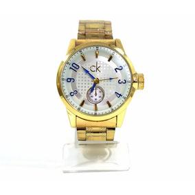 4afd9724f55 Relogio Calvin Klein Dourado E - Anel Relógio no Mercado Livre Brasil