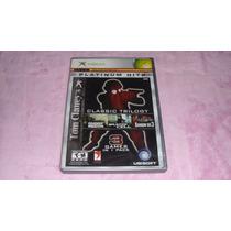 3en1 Ghost Recon,splintercell,rainbow Six3 Xbox Clasico