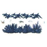 Adesivo Grande Parede Cartela Nº3 Coleção Baleias