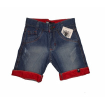 Shorts Bermuda Jeans Infantil Grandes Marcas - Atacado