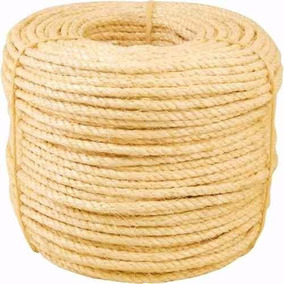 Corda Fio Sisal Natural 6mm Rolo 10m Ideal Para Artesanato