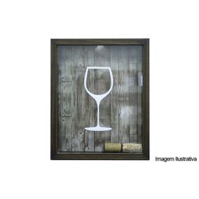 Quadro Porta Rolha 22x27 Wine