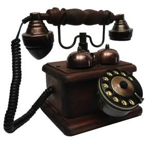 Telefone Antigo Lord Mogno - Discador Disco - Artesanal
