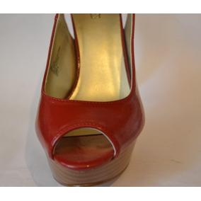 Sapato Plataforma Verniz Vermelho - Salto 15 - Importado