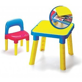 Mesa Infantil + Cadeira Desmontavel 50x47