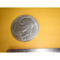 Moeda De 1 Dolar Americano Década De 70 - 3,7 Cm De Diâmetro
