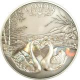 5653 # Camarões 1000 Francos 2011 Prata Antique-inish
