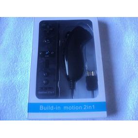 Controle Nintendo Wii Remote + Nunchuk + Motion Plus Preto
