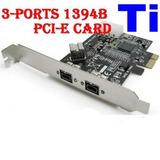 Placa Pci-ex 1x Firewire 800 Chipset Texas Profire 2626 Digi
