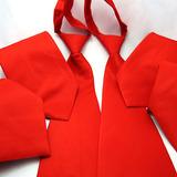 8 Pcs Gravata Vermelha Com Zíper - Casamento, Uniforme.