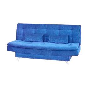 Sofá Cama-bicama Matrix Salomé Em Tecido Suede Liso Azul