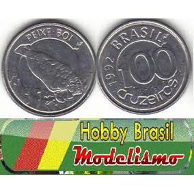 4 Moedas De 100 Cruzeiros Peixe Boi 1992