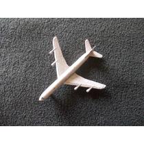 Avión Boing 707 Plomo Hong Kong. 8cm Largo