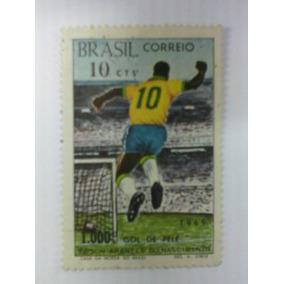 Selo Comemorativo 1000º Gol Do Pelé
