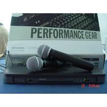 Microfone Duplo Sem Fio Shure Pg288/pg58 - - Frete Gratis