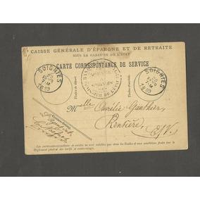 França Documento Militar De Serviço 1889 - Soignies Carimbo