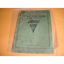 Manual Proprietario Ford 34 1934 V-8 V8 Original