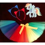 Disfraz Tutu Pollerita My Little Pony + Vincha Orejita